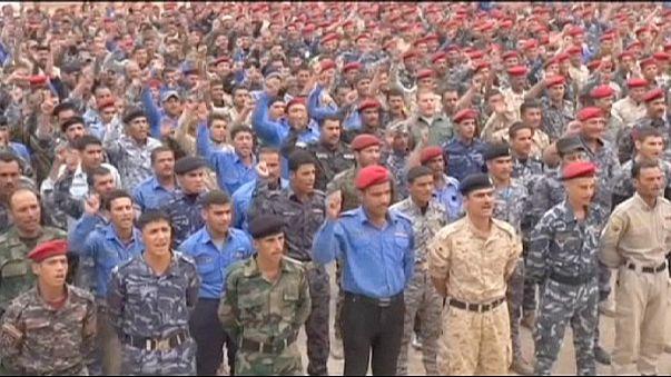 متطوعون سنة يقبلون على مراكز التدريب في العراق