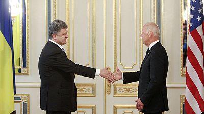 Biden and Poroshenko discuss reform, corruption and democracy