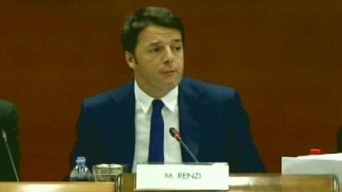 """""""Jobs act"""": befektetőket győzködött az olasz kormányfő"""