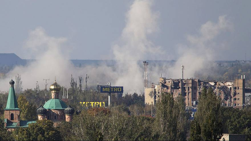 Watch: Drone reveals scale of destruction at Donetsk Airport