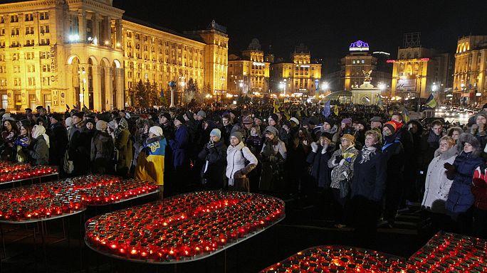 Ereignisreicher Tag in der Ukraine: Neue Koalition, Gedenken an Maidan-Opfer und Besuch aus USA