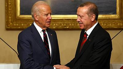 Biden and Turkish President discuss crisis in Syria