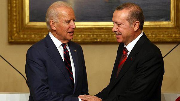 دیدار بایدن با مقامات ترکیه در آنکارا