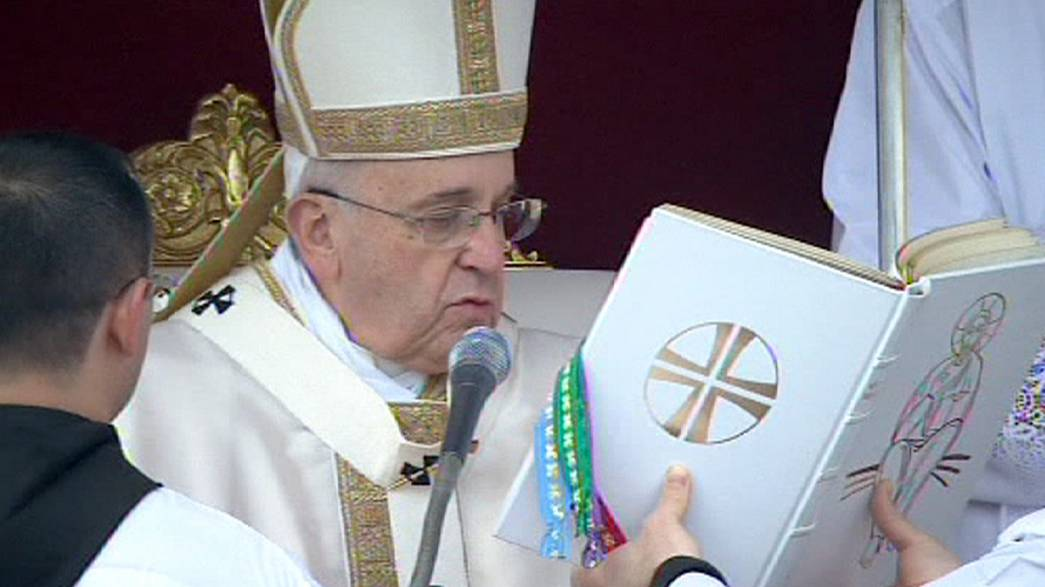 Six new saints canonised by Pope Francis