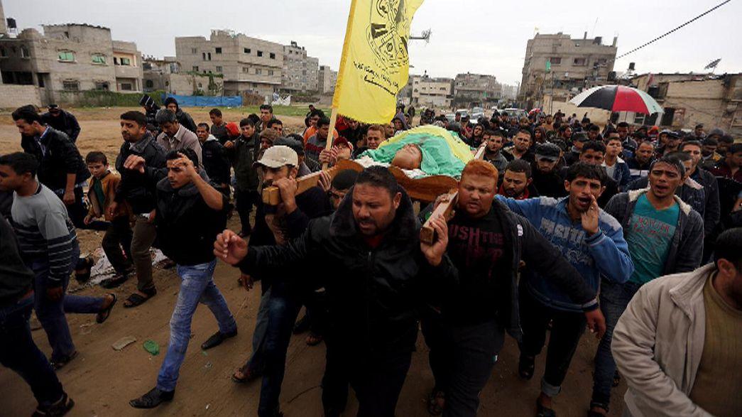 Filistin'de bir cenaze bir kundaklama