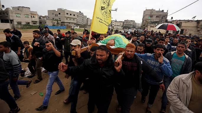 Palestinian man shot in Gaza near border with Israel
