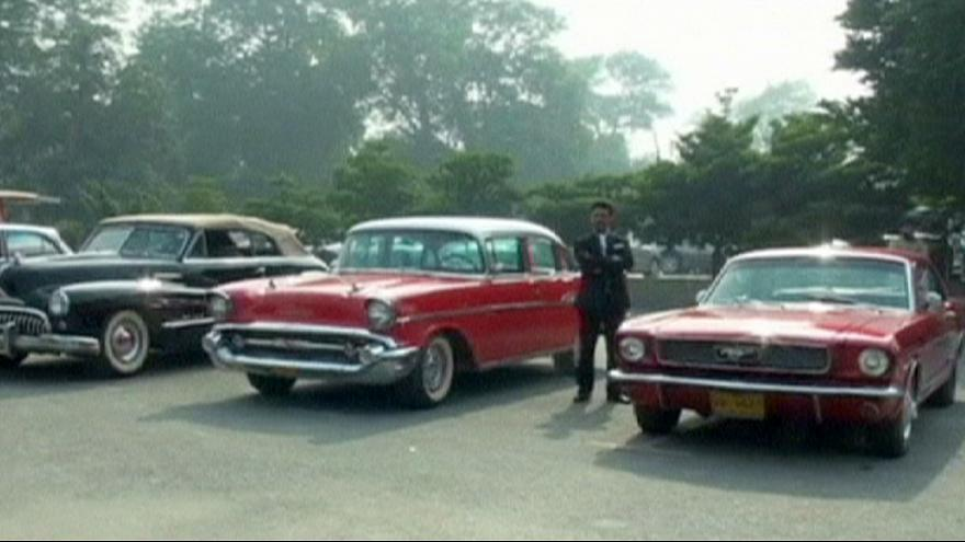Pakistan: Vintage car rally