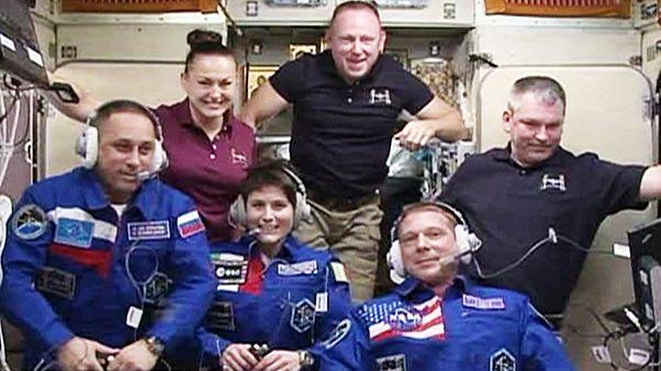 """"""" سويوز"""" تلتحم بنجاح بمحطة الفضاء الدولية"""