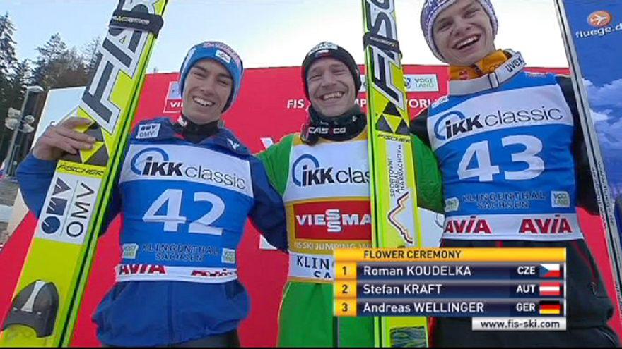 Роман Куделка - победитель этапа в Клингентале