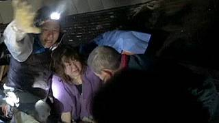 Rescue operation frees people trapped by Japanese earthquake