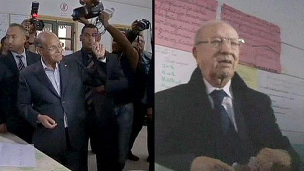 Essebsi y Marzuki se disputarán la presidencia de Túnez en una segunda vuelta según los sondeos