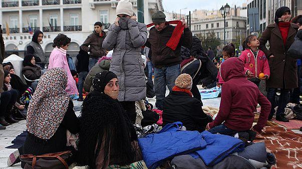 Grecia: rifugiati siriani digiunano davanti al Parlamento
