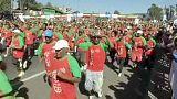 Milhares de participantes na Great Ethiopian Run