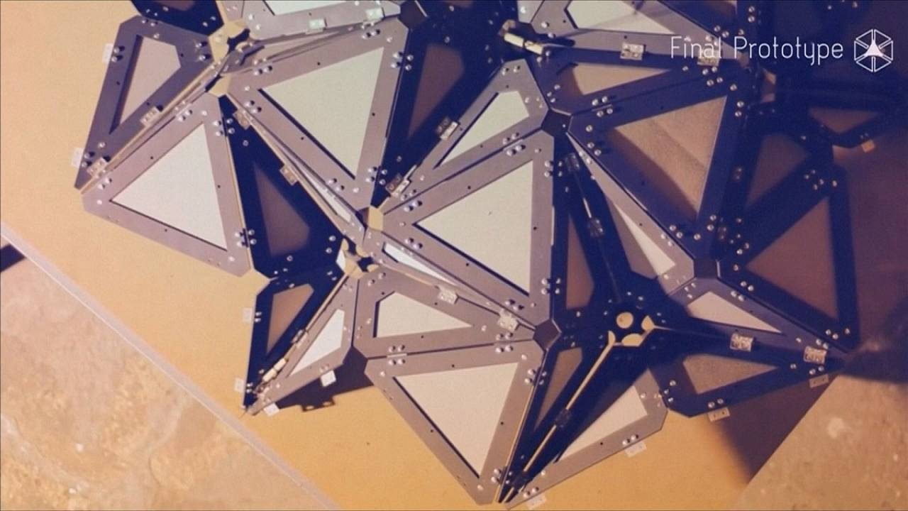 Biegsam und flexibel: Das Origamihaus