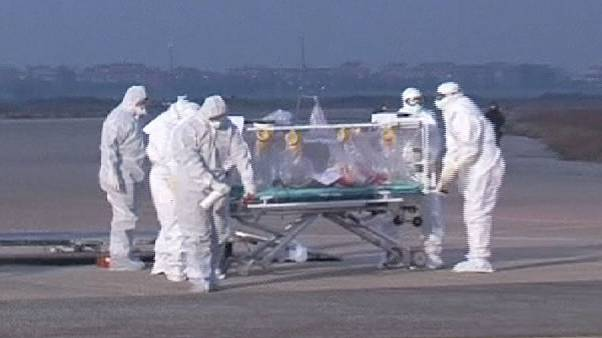 Italian Ebola victim returns home for treatment