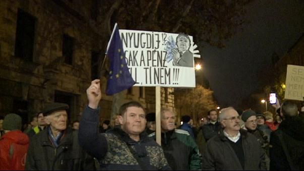 Hungarians protest as the government moves against private pension schemes