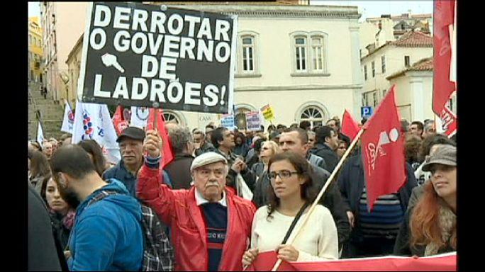 Portekiz'de 12 km'lik protesto yürüşü