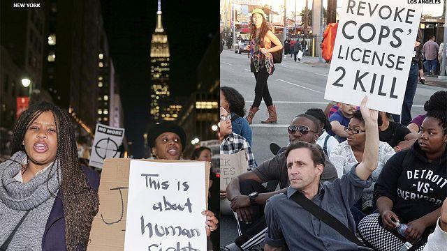 إحتجاجات فيرغسون المنددة بالعنصرية تنتشرفي مناطق أمريكية اخرى