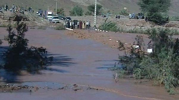 Marokko: Aufräumarbeiten nach Überschwemmungen