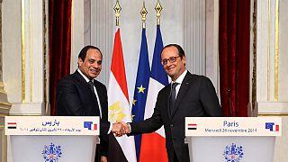 Mısır Cumhurbaşkanı Sisi Fransa'da