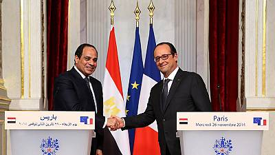 Hollande calls on Sisi to continue 'democratic transition' in Egypt