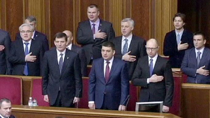 Première session du Parlement ukrainien largement pro-occidental