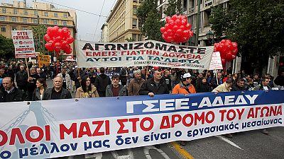 General strike grips Greece as Troika talks stall