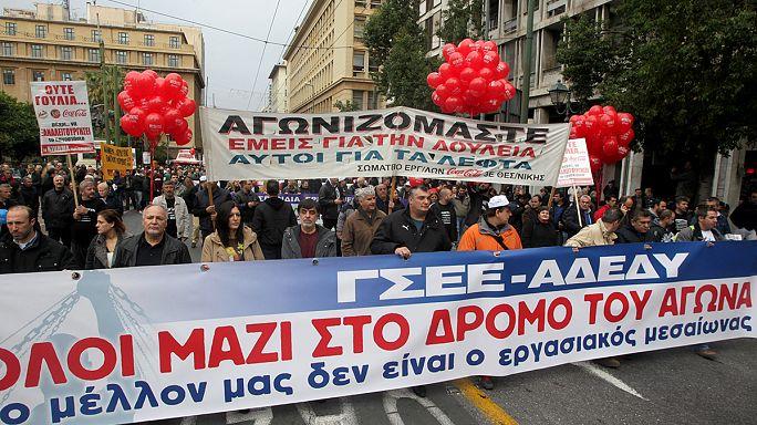 Grèce : grève générale contre l'austérité, le pays au ralenti