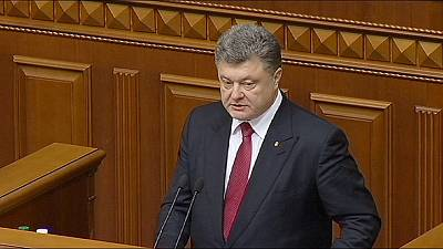 Show of unity as Ukraine parliament meets for first session