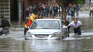 Due giorni di piogge mettono Gaza in ginocchio