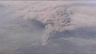 Mount Aso ash cloud causes chaos in Japan