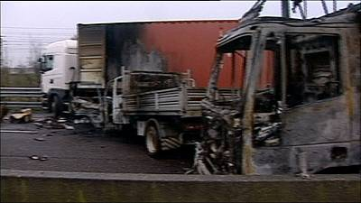 Rapina fallita contro portavalori: scena da stuntmen sulla A1
