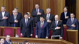 Ukraine : session inaugurale du nouveau Parlement