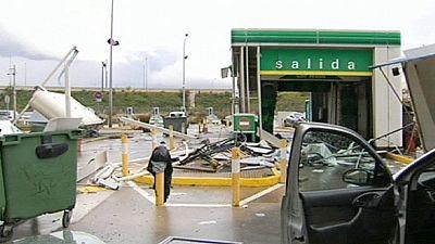 Tornado en la localidad española de Torremolinos