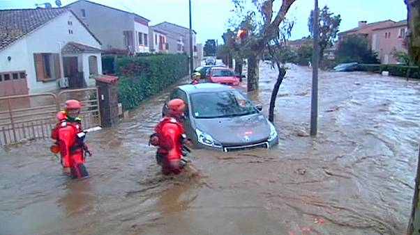 Sul de França de novo debaixo de água