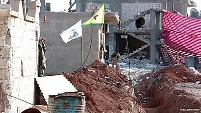 Frontline of Syrian city of Kobani in rubble after two months of fighting