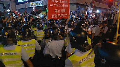 Clashes in Hong Kong as protesters attempt to reclaim camp