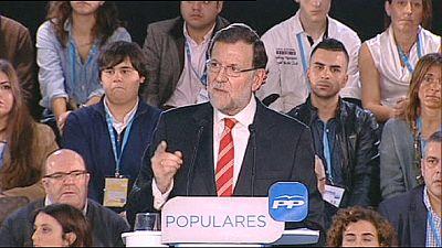"""Rajoy Barcelone : """"je ne permettrai pas"""" que l'on remette en question """"l'unité de l'Espagne"""""""