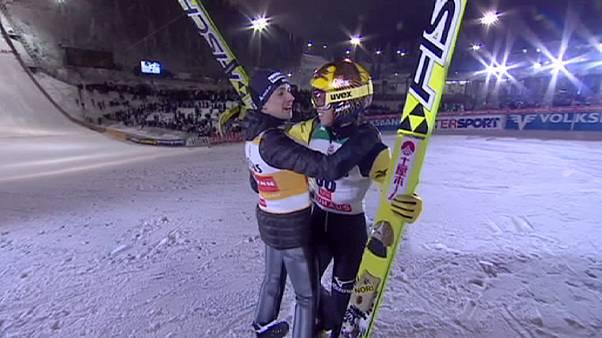 Kasai and Ammann share victory in Ruka