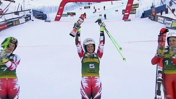 Büyük Slalom'da Eva-Maria Brem ilk kez kazandı