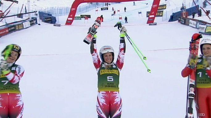 كأس العالم للتزلج الألبي: أول فوز لبرام في فئة السيدات