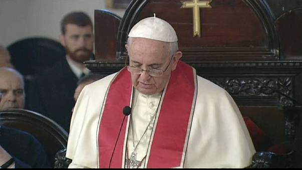 Pope Francis in joint service on last day of Turkey visit