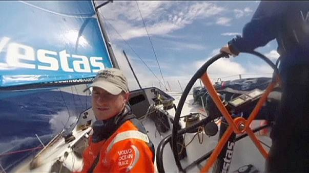 Team Vestas Wind crew forced to abandon ship