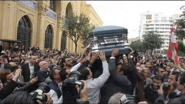 جنازة احتفالية بهيجة للراحلة صباح في بيروت