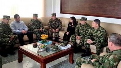 FARC release captured Colombian general and call for a bilateral ceasefire