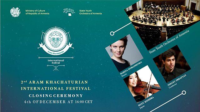 Closing ceremony of the 2nd Aram Khachaturian International Festival in Yerevan