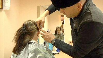 Coupe de cheveux cosaque à Saint Petersbourg