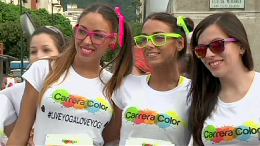 "Venezuela'da ""Color Run"" maratonu"
