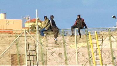 Migrants charge Spain's Melilla enclave