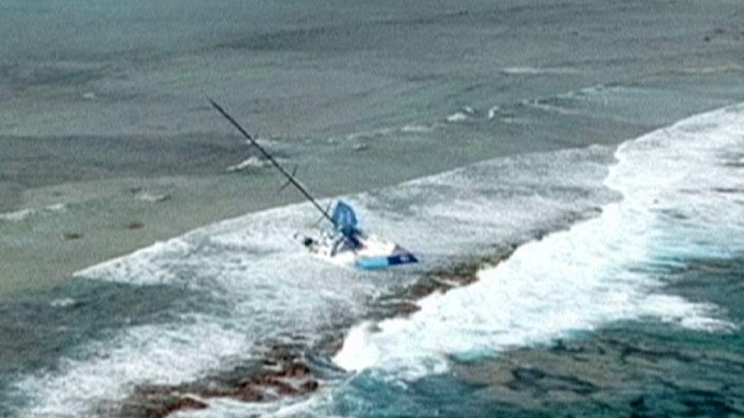 Video footage released of stricken Volvo Ocean Race boat